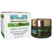 Planet Ayurveda GREEN ESSENTIAL GEL FACE SCRUB (GREEN TEA ALOE) 100gm