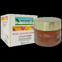 Planet Ayurveda Rose-Almond-Honey Cleansing Face Scrub 100gm