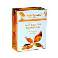 Planet Ayurveda's Revivify Mandarin Orange Natural Handmade Bar 100g