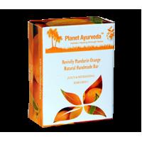 Planet Ayurveda's Revivify Mandarin Orange Natural Handmade Bar 100g