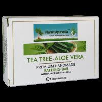Planet Ayurveda Tea Tree-Aloe Vera Premium Handmade Bathing Bar 125gm