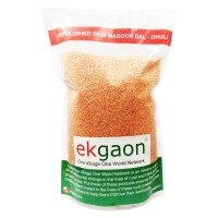 Unpolished Desi Masoor Dal - Dhuli (Washed & Split Red Gram) 1kg
