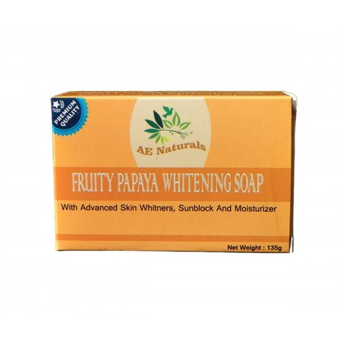 AE Naturals  Premium Papaya Skin Whitening Soap With Sunblock 2X135g