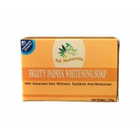 AE Naturals  Premium Papaya Skin Whitening Soap With Sunblock 3X135g